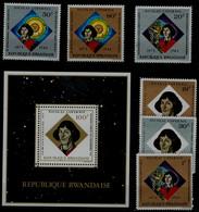 RUANDA 1973 NICALAS KOPERNIC MI No 612-7+BLOCK 37 MNH VF!! - Astronomia