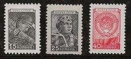 Russie 1954-1957 N° Y&T : 1910A,1911 Et 1912 ** - Nuovi