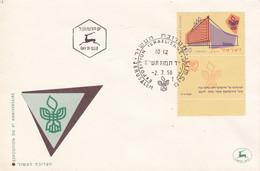 EXPOSITION DU Xº ANNIVERSAIRE, EXPOSITION ISRAELIENNE. ISRAEL 1958 SPC ENVELOPPE.- LILHU - Esposizioni Filateliche