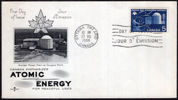Canada - 1966 - FDC - Atomic Energy - Enveloppe Thematique - A1RR2 - 1961-1970