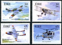 Irlande Ireland Eire 2000 Hurricane, Bristol F2B Brisfit, DH Vampire, Alouette III ( YT 1291, Mi 1287, St Gibbons 1368) - Aerei