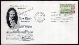 Canada - 1962 - FDC - 1812/1962 Sesquicentennial Of The Red River - Enveloppe Thematique - A1RR2 - 1961-1970