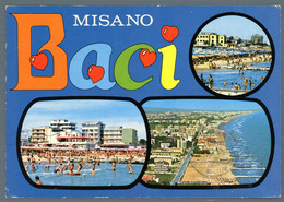 °°° Cartolina - Misano Vedute Viaggiata (l) °°° - Rimini