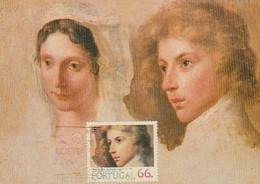 Portugal & Maximum Card,Study Of Heads For Portraits By Domingos Sequeira, Sec. XIX, LUBRAPEX Porto 1984 (59) - Altri