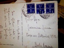 NERVI - TORRE- ILLUSTRATA DA A. RAIMONDI VB1946 LUOGOTENENZA POSTA AEREA 1 LIRA 3 VALORI   IG10592 - Genova