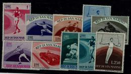 SAN MARINO 1954 SPORT MI No 513-22 MNH VF!! - Usati