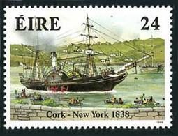 Irlande Ireland Eire 1998 Crossing Atlantic 1838 Steamer SS Sirius  (YT 655, Mi 652, St Gibbons 696) - Barche