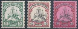 Königsjacht 17, 19, 25, 3 Stück *          1900/06 - Colony: German South West Africa