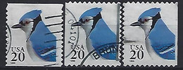 USA  1996  Blue Jay  (o) Mi.2753  BC+BD L+r - Used Stamps