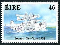 Irlande Ireland Eire 1998 Crossing Atlantic 1938 Short Mayo Composite (YT 656, Mi 653, St Gibbons 697, Scott 719) - Aerei