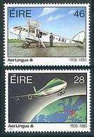 Irlande Ireland Eire 1986 Boeing747, De Havilland Dragon (YT 599, Mi 595, St Gibbons 638, Scott 661) - Aerei