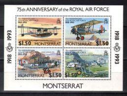 Montserrat - 1993 Royal Air Force Block MNH__(TH-4001) - Montserrat