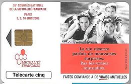 CARTE²-PUCE-PRIVEE-5U-GN523-02/00-GEM2-MUTUALITE FRANCAISE-V°DN° Série 6001-Utilisé TBE-LUXE - 5 Unità