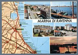 °°° Cartolina - Marina Di Ravenna Vedute Viaggiata (l) °°° - Ravenna