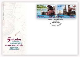 Portugal & FDC V Centuries Of The Portuguese Presence In The Austral Seas, João Da Nova Evocation 2021 (77763) - Altri