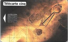 CARTE²-PUCE-PRIVEE-5U-GN66-06/94-SO5-JG-PIECES D OR-V°DN° Série 2414-Utilisé TBE- - 5 Unità