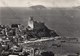CARTOLINA  LERICI,LA SPEZIA,PANORAMA,SPIAGGIA,MARE,SOLE,ESTATE,LUNGOMARE.VACANZA,BELLA ITALIA,VIAGGIATA 1961 - La Spezia