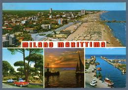 °°° Cartolina - Milano Marittima Vedute Viaggiata (l) °°° - Ravenna