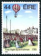 Irlande Ireland Eire 1985 1st Irish Balloonist Richard Crosbie Aérostier (YT 561, St Gibbons 608, Scott 611) - Mongolfiere