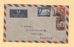 Gold Coast - Accra - 1956 - Par Avion Destination France - Gold Coast (...-1957)