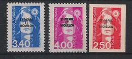SPM - 1992 - N°Yv. 555 à 557 - Marianne De Briat - Série Complète - Neuf Luxe ** / MNH / Postfrisch - Unused Stamps
