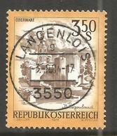 AUSTRIA. 3.50s BUILDINGS. USED LANGENLOIS POSTMARK. - 1971-80 Usados