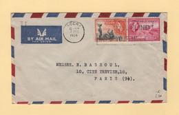Gold Coast - Accra - 1954 - Par Avion Destination France - Gold Coast (...-1957)