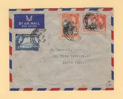 Gold Coast - Kumasi - 1956 - Par Avion Destination France - Gold Coast (...-1957)