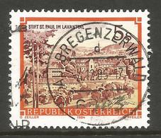 AUSTRIA. 5s BUILDINGS. USED AU BREGENZERWALD POSTMARK. - 1981-90 Usados
