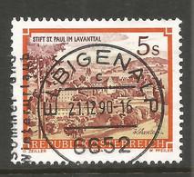 AUSTRIA. 5s BUILDINGS. USED ELBIGENALP POSTMARK. - 1981-90 Usados