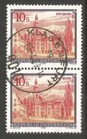 AUSTRIA. 10s PAIR BUILDINGS. USED KLAGENFURT POSTMARK. - 1981-90 Usados