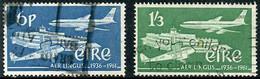 Irlande Ireland Eire 1961 Aer Lingus 25 Years De Havilland Dragon Boeing 707 (YT 148, Mi 148, St Gibbons 184, Scott 177) - Aerei