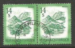AUSTRIA. 4S MOUNTAINS PAIR USED VORARLSBERG POSTMARK. - 1981-90 Usados