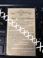 [V] Vandevondele Camiel Meulebeke 1962 1929 Jongman - Obituary Notices