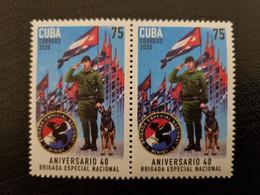 CUBA NEUF 2020 1er CHOIX // BRIGADES SPECIALES 75c // BLOC DE 2 - Unused Stamps