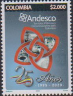 COLOMBIA, 2020, MNH,ANDESCO, NATIONAL ASSOCIATION OF COMPANIES OF PUBLIC SERVICES AND COMMUNICATIONS OF COLOMBIA, 1v - Altri