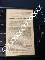 [V] Van Hoof Joanna Francisca Leemans Frans Wolvertem 1850 1935 - Obituary Notices