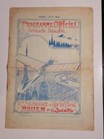 Rouen / Programme Officiel / Semaine D'Aviation 19/26 Juin 1910 / Illustrateur René Crevel / Lire Description - Programs