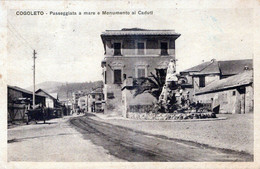 COGOLETO-Passeggiata A Mare E Monumento Ai Caduti-Vg Il 14 9 1925-ORIGINALE D'Epoca Al100%-2 Scann- - Genova