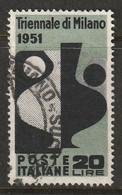 Italy 1951 Sc 582 Yt 605 Used - 1946-60: Usati