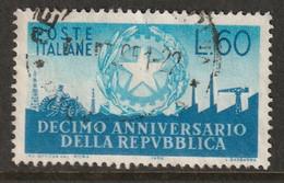 Italy 1956 Sc 712 Yt 727 Used - 1946-60: Usati