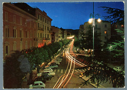 °°° Cartolina - Porretta Terme Piazza V. Veneto E Via Mazzini Notturno Viaggiata (l) °°° - Bologna