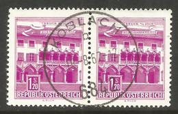 AUSTRIA. 1.20S PAIR USED KOBLACH POSTMARK - 1961-70 Usados