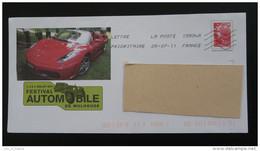 Automobile Ferrari Mulhouse 68 Haut Rhin PAP Postal Stationery 2557 - Automobili