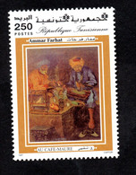 1997- Tunisie - Hommage Aux Artistes Peintres Tunisiens - Ammar Farhat - Le Vieillard Et Le Feu - MNH** - Altri