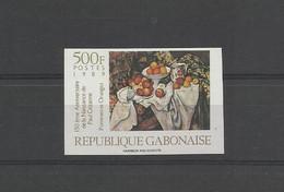 Peinture Tableaux Non Dentelés** Gabon 669 Paul  Cezanne Pommes Et Oranges - Non Classificati