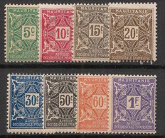 Mauritanie - 1914 - Taxe TT N°Yv. 17 à 24 - Série Complète - Neuf Luxe ** / MNH / Postfrisch - Unused Stamps