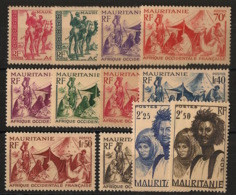 Mauritanie - 1939-46 - N°Yv. 105 à 115 Avec 112A - Série Complète - Neuf Luxe ** / MNH / Postfrisch - Unused Stamps