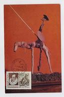 CARTE MAXIMUM CM Card USSR RUSSIA Literature Spain Cervantes Don Quijote Quixano  Quixote Horse - Cartoline Maximum