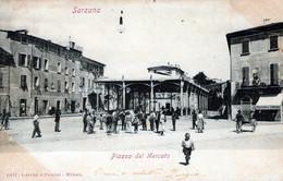 SARZANA-Piazza Del Mercato-Vg Il 1903-per CIVIDALE UD-ORIGINALE D'Epoca Al100%-2 Scann- - La Spezia